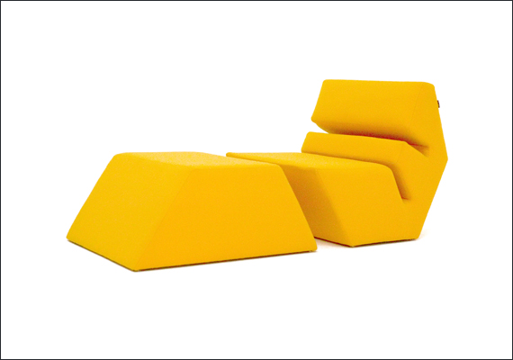 EVO armchair and ottoman